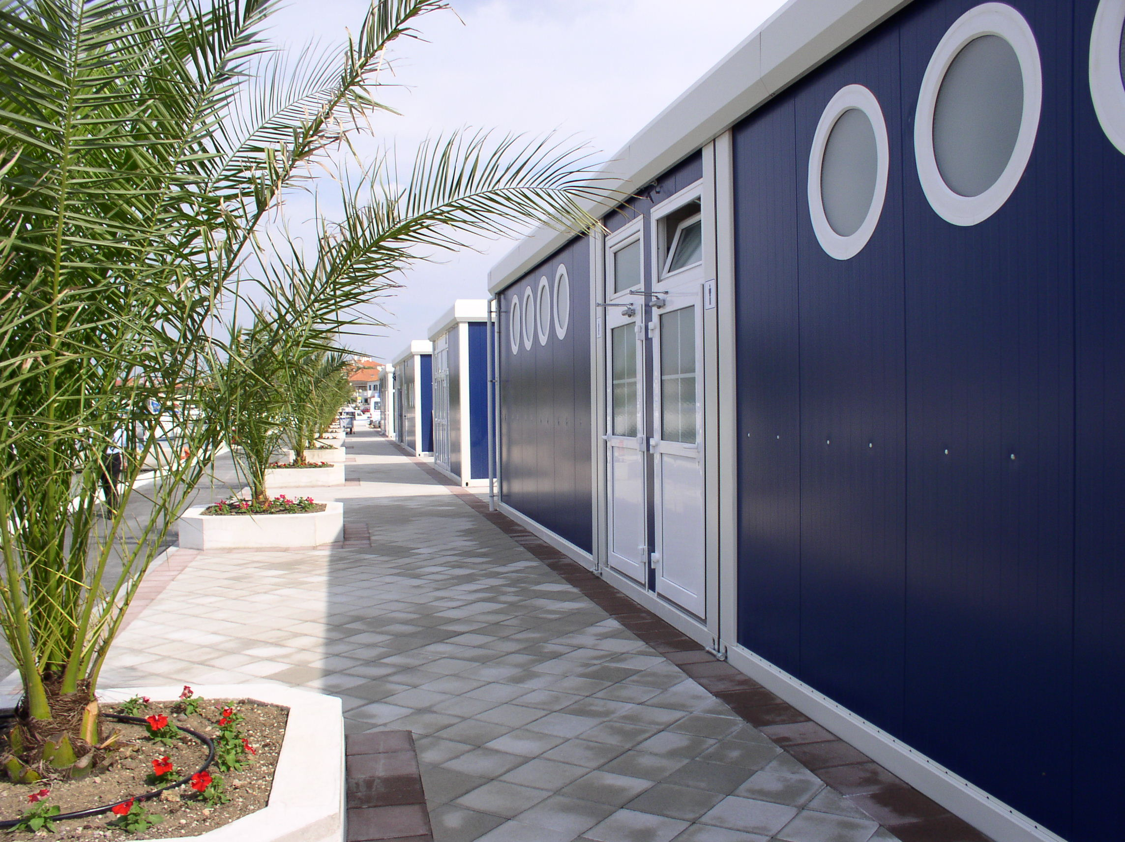 Sanitary units in camp